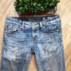 Miss Me Factory Distressed Skinny Jeans  27 x 31